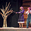 "Mark Maynard | for The Herald Bulletin<br /> A skeptical Louella Bennett (Skyla Bruno) receives a lesson in searching for water with a divining fork from Buddy Layman (Isaac Derkach) in the Anderson University production of ""The Diviners"" by Jim Leonard, Jr."