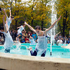 "AU dance students perform ""Helios Suite"" around the Helios statue."