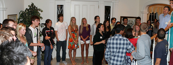 The students admitted to the Class of '14 introduced themselves to the group.