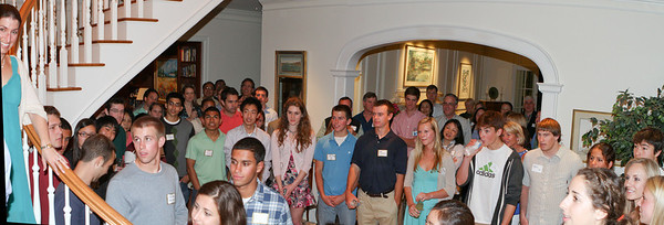 It was quite a crowd (the largest group yet) with admits, new alums, parents, and so on.