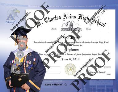 2014 Akins HS Keedjit™ Diploma Proofs