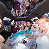 Inside the limo, a parent leans in to take one more picture. From left: Kelly Marshall, Kristen Tatum, Brooke Byles, Courtney Andrews, Sarah Duncan, Elissa Tatum, Kelsey Basler, Alyssa Bobalik, and Michaela Mott