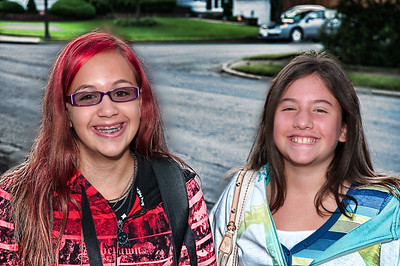Alley and Michelle - First Day of School