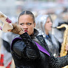 Don Knight | The Herald Bulletin<br /> Cene Dyson performs with the Marching Highlanders at Indiana State Fair Band Day on Saturday.