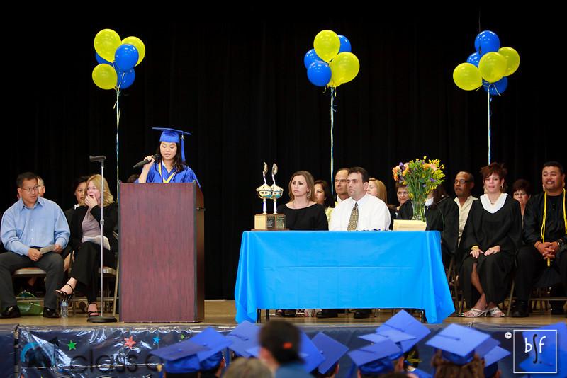 Hoang gives her Salutatorian speech.
