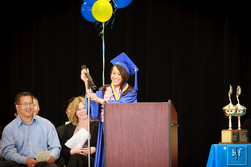 Aimee Nguyen gives her Salutatorian speech.