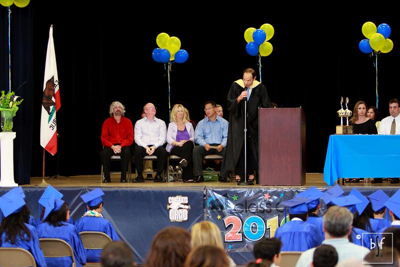 Superintendent Joseph Amelio makes his commencement speech.