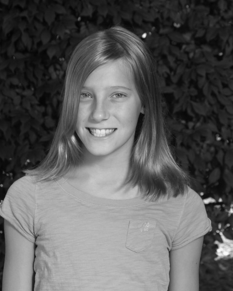Anna's 5th grade photo - black & white