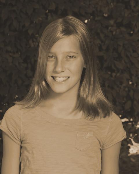 Anna's 5th grade photo - sepia