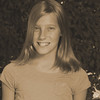 Anna's 5th grade photo - sepia