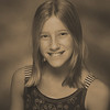 Anna's 6th grade photo - sepia