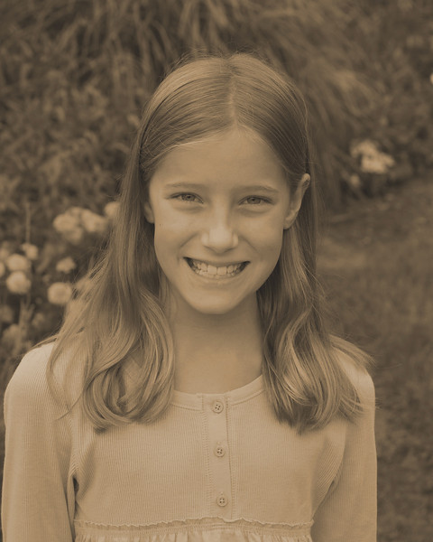 Anna's 4th grade photo - sepia