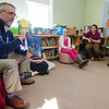 "Ron Ansin reads the book ""Weslandia"" during Applewild School's Community Reading Day on Wednesday morning. SENTINEL & ENTERPRISE / Ashley Green"