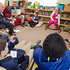 "Ron Ansin is joined by his father, Ronald Ansin, to read the book ""Weslandia"" during Applewild School's Community Reading Day on Wednesday morning. SENTINEL & ENTERPRISE / Ashley Green"