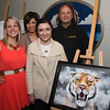 Christen Schneid, Vermilion Arts Dept. Manager with Allison Gossett, VHS student with parents Silva and John.