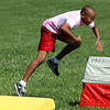 A.J. Hay runs the obstacle course while participating in field day Wednesday at Parkwood Elementary School. Staff photo by C.E. Branham