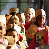 Jada Williams and her classmates line up for the annual preschool and kindergarten Thanksgiving dinner at Springhill Elementary School on Tuesday. Staff photo by C.E. Branham