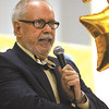 Former Thomas Jefferson Elementary School principal Charles King addressed the student body and faculty about their success in being named a four star school by the Indiana Department of Education.  Staff photo by C.E. Branham