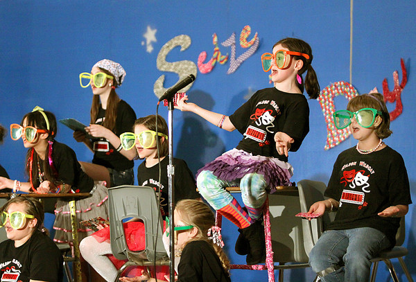 """The Wilson Wildcat Players, a theatre group at Wilson Elementary School, had their debut Thursday performing the show, """"Seize the Day."""" The group, consisting of 18 fourth and fifth grade students, was formed by Wilson teacher Sally Scott. Staff photo by C.E. Branham"""
