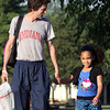 James James walks his daughter Azalea James to Northaven Elementary School On Wedensday for her first day as a first-grader. More than 10,000 students returned to class in the Greater Clark County Schools system. Staff photo by C.E. Branham