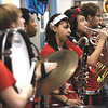 Members of the Jeffersonville High School pep band opened the Thomas Jefferson Elementary School four star designation celebration Friday.  Staff photo by C.E. Branham