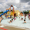 Parkwood Elementary School students splash around at the Jeffersonville Aquatic Center on Thursday morning. The entire student body from the school were rewarded with a day at the center for clocking the most steps, using pedometers, in the Greater Clark County Schools Fitness Challenge. This is the third year in a row that Parkwood has placed first in the challenge, although this year they tied with Bridgepoint Elementary School. Staff photo by Christopher Fryer