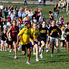 Nearly 400 elementary school kids from Floyd County participated in a cross country meet Thursday at Community Park in New Albany. The event was sponsored by New Albany-Floyd County Parks and Recreation and the New Albany Track Club. Staff photo by C.E. Branham