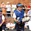 Carter Lannan, riding Davis, keeps an eye on the field in the first race of the annual St. Anthony Catholic School KinderDerby. Staff photo by C.E. Branham