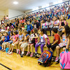 S. Ellen Jones Elementary School students gather in the gymnasium for morning assembly on the first day of school in New Albany on Thursday. Staff photo by Christopher Fryer