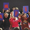 "Utica Elementary School kindergarten students spell out ""Champions"" as they present a Black History Month presentation Thursday morning on Muhammad Ali.  Staff photo by C.E. Branham"