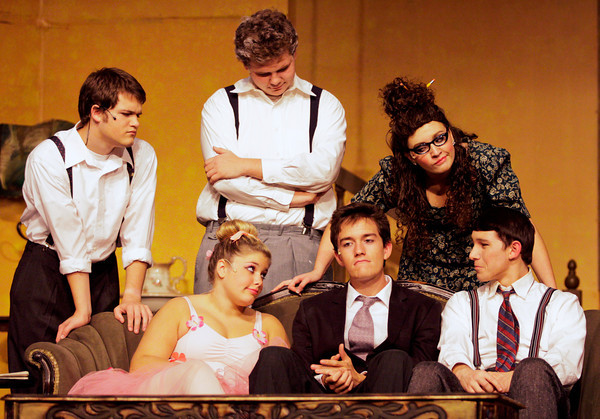"""Cast members perform during a dress rehearsal for """"You Can't Take It With You"""" in the auditorium at Jeffersonville High School on Tuesday evening. The play will run on Sept. 27, and the 29-30. For more information visit  <a href=""""http://www.thespians3860.wix.com/jhsthespians"""">http://www.thespians3860.wix.com/jhsthespians</a>. Staff photo by Christopher Fryer"""