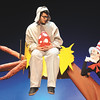 """Evan Carroll portrays Horton and John Templeton The Cat in the Hat in the Jeffersonville High School Theatre production of """"Seussical.""""  The show opens tonight at 7:30 p.m. followed by shows on Friday and Saturday night at 7:30 p.m.  A 2 p.m. matinee is scheduled for Sunday.  Adult tickets are $10, student and senior citizen tickets are $5.  Staff photo by C.E. Branham"""