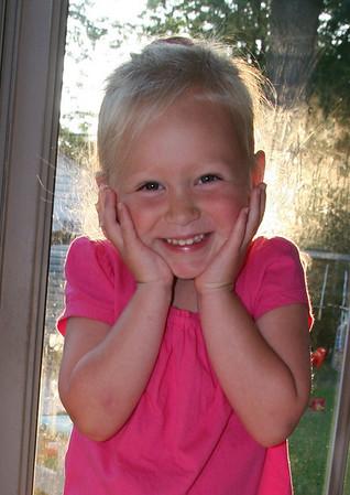 Ashley, first day of preschool 2009