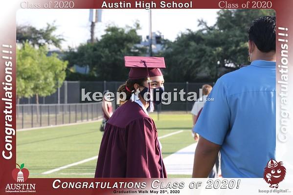 Austin High Grad Walk 2020