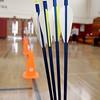 Ayer Shirley Regional High School has an new archery class being taught by Physical Education teacher Jamie Lamoreaux. SENTINEL & ENTERPRISE/ JOHN LOVE