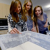 "Olivia Stewart, left, Star Beltman, and Callie Smith,  all  middle school students at Boulder's Horizons K-8, are learning how rivers start in a science class in the new wing of the school funded by a Colorado BEST grant.<br /> For more photos at the school, go to  <a href=""http://www.dailycamera.com"">http://www.dailycamera.com</a>.<br /> Cliff Grassmick  / November 9, 2012"