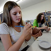 "Brigit Galloy, left,  and Jordan Galloway, both  middle school students at Boulder's Horizons K-8, are working in an art room in the new wing of the school funded by a Colorado BEST grant.<br /> For more photos at the school, go to  <a href=""http://www.dailycamera.com"">http://www.dailycamera.com</a>.<br /> Cliff Grassmick  / November 9, 2012"