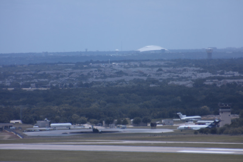 This view is from a control tower at DFW airport.