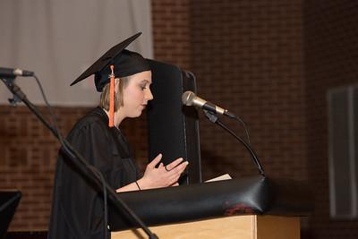 Tatiana Mohr reads a scripture