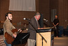 Lee Trigg, Pastor at Aleo United Methodist Church, welcomes guests to Baccalaureate ceremony. Also pictured: Caleb Grant, Worship Pastor at Christ Chapel Bible Church, and Scott France, Deacon at Holy Redeemer Catholic Church.