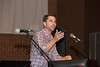Johnny Farr, High School Pastor at Christ Chapel Bible Church, addresses students at Baccalaureate.
