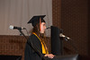 Caitlyn Andrews reads a scripture during the Baccalaureate service.