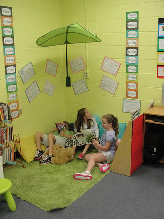 Reading time at John Milledge Academy.