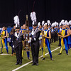Lewis Cass Marching Kings walk away with the first place trophy at the Indiana state band championships in Indianapolis on Saturday evening. Fran Ruchalski | Pharos-Tribune