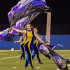 Lewis Cass Marching Kings color guard perform at the Indiana state band championships in Indianapolis on Saturday evening. The band took first place in their division at the event. Fran Ruchalski | Pharos-Tribune