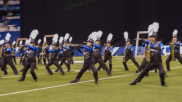 Lewis Cass Marching Kings perform at the Indiana state band championships in Indianapolis on Saturday evening. The band took first place in their division at the event. Fran Ruchalski | Pharos-Tribune