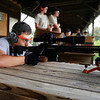 Holly Pelczynski - Bennington Banner Victorio Grande, shoots a rifle on Thursday during a firearms excercise at Hale Mountain Rod and Gun Club during the Bennington New Experiences Camp.