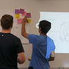 "Billerica High students competing for a InvenTeam Award get training on ""Design Thinking"" from IBM employees. Rising senior James Pope, 17, and sophomore, Karan Rana, 14. (SUN/Julia Malakie)"