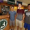 From left, Billerica High sophomore Shashank Jarmale, 15, senior Cory Lafleur, 17, and sophomore Saketh Mynampati, 15, participated in STEM projects at MIT's Beaver Works Summer Institute. (SUN/Julia Malakie)