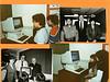 Bishop Belleau School Album 1984. Icon computer donated by Pope John Paul II. Bob Koshurba, Bishop Leguerrier, Sister Audrey.